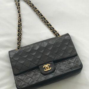Vintage Authentic Chanel Flap Handbag